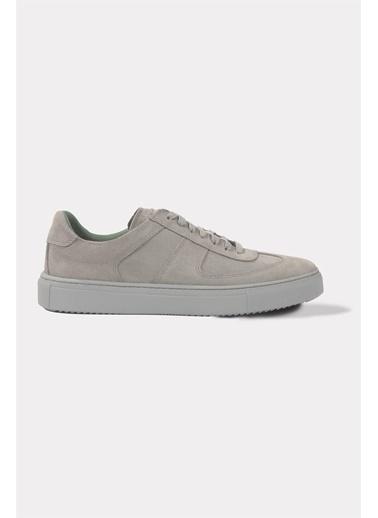 Krähe Corb Gri Süet Minimal Sneaker Gri